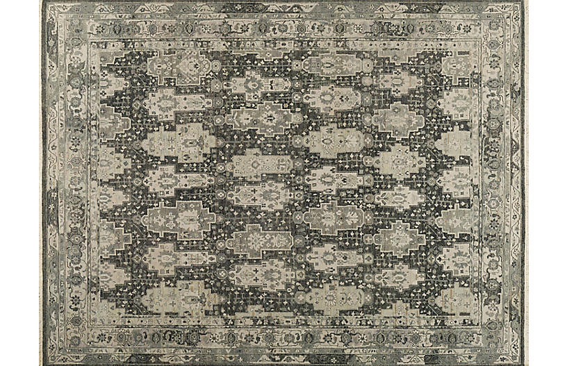 Ashwin Hand-Knotted Rug, City Shadow