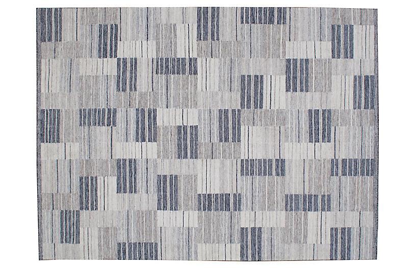 Vesper Flat-Weave Rug, Silver