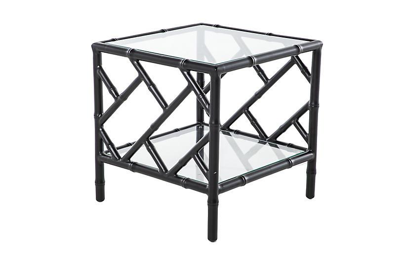 Kit Chippendale Side Table, Black