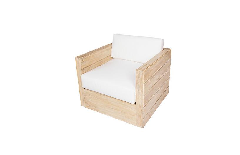 Element Teak Outdoor Lounge Chair, Natural