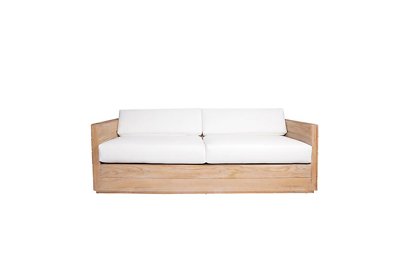 Element Teak Outdoor Sofa, Natural