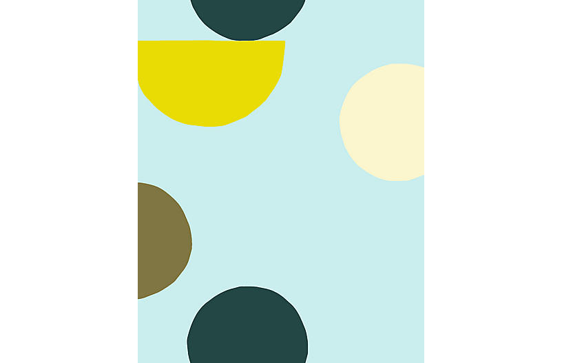 Clare V Midcentury Dots Wallpaper, Mint