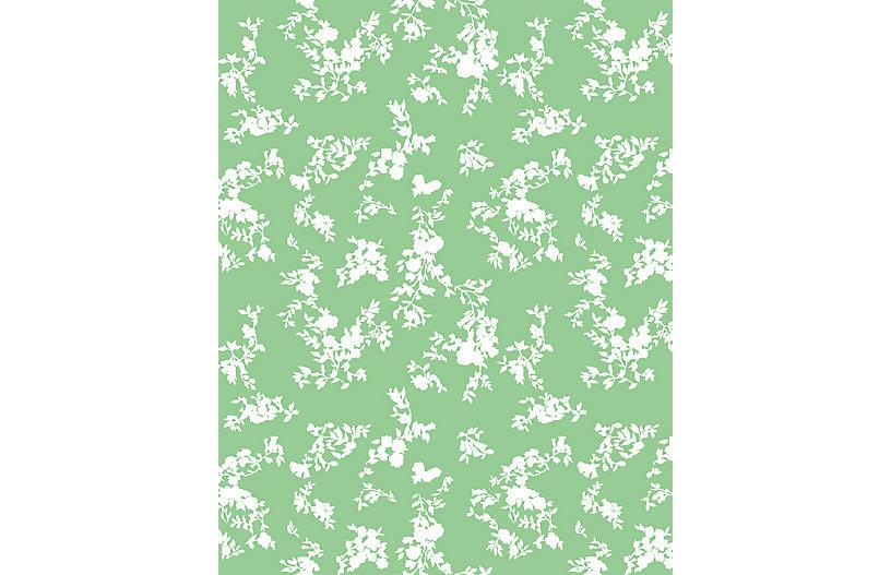 Clare V Francoise Floral Wallpaper, Spring Green