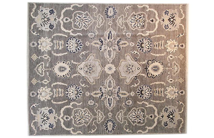 9'x12' Sari Wool Carla Rug, Gray