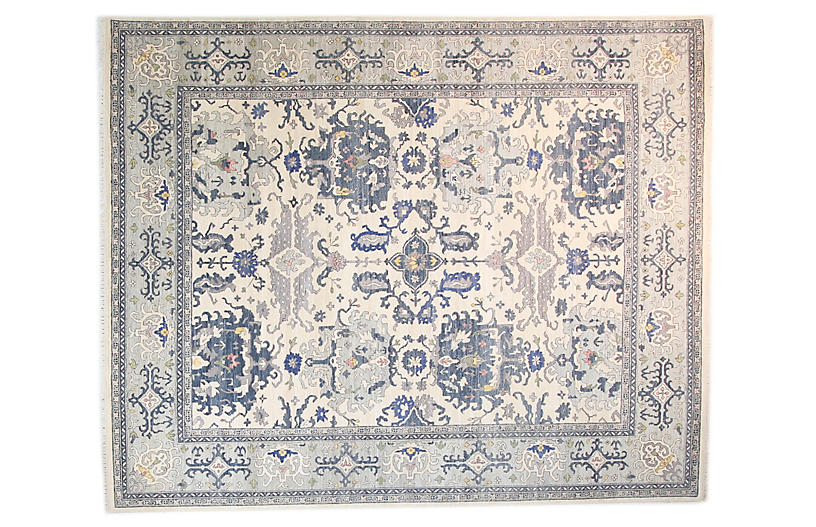 8'x10' Leah Rug, Ivorylight Blue
