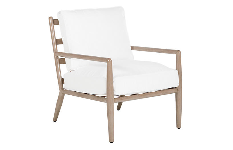 Siena Lounge Chair, White