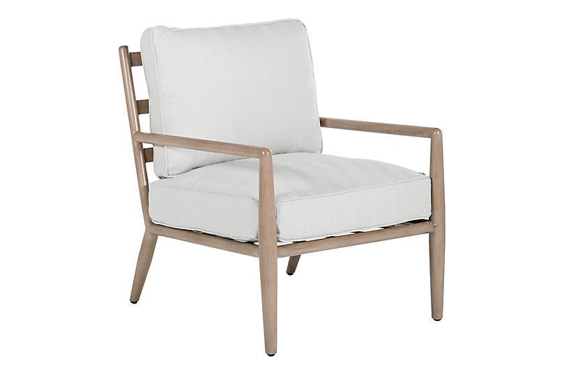 Siena Lounge Chair, Slate Herringbone