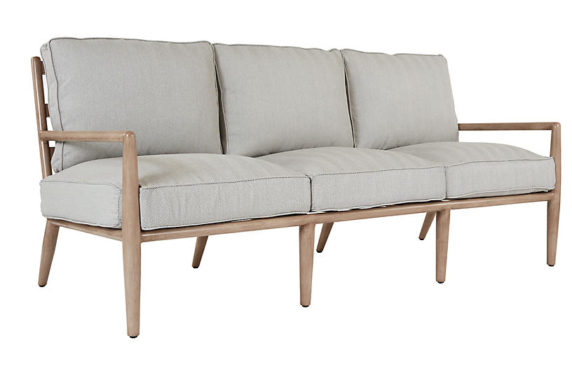 Siena Sofa, Slate Herringbone