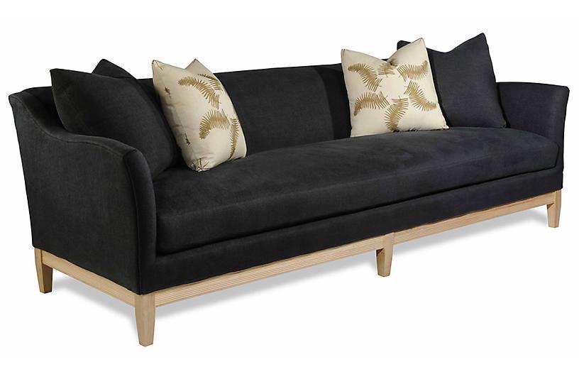 Paradigm Sofa, Black Linen