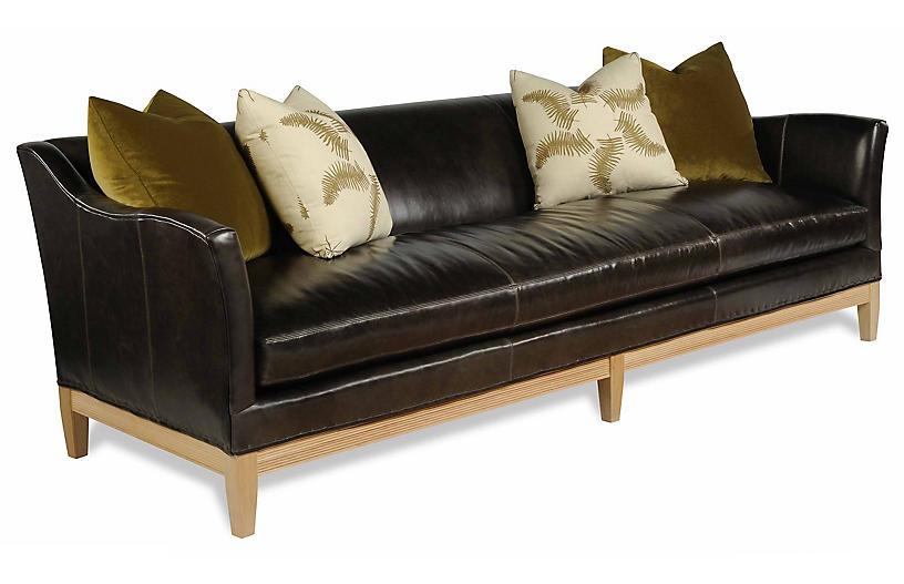 Paradigm Leather Sofa, Dark Brown