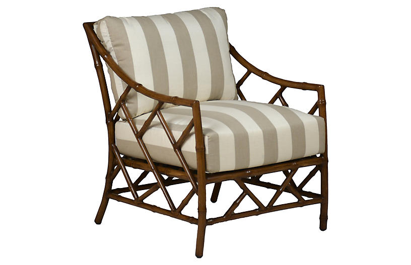Kit Lounge Chair, Sandalwood/Pebble Cabana