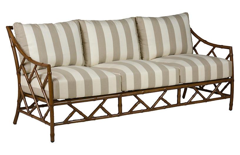 Kit Sofa, Sandalwood/Pebble Cabana