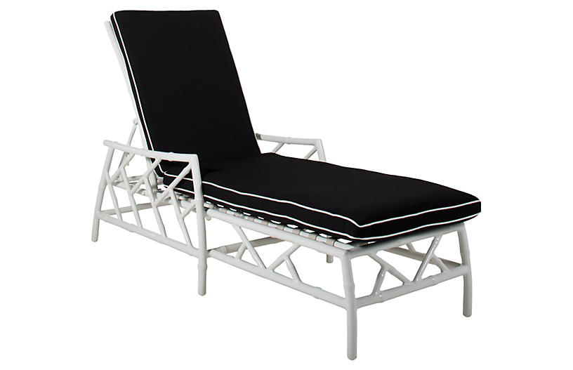 Kit Chaise, White/Black