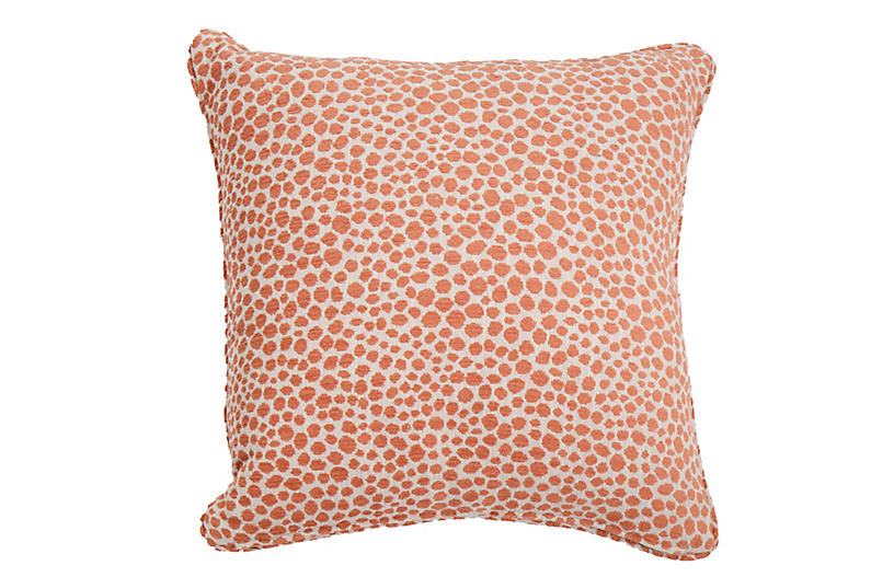 Kit Outdoor Pillow, Cheetah Rust