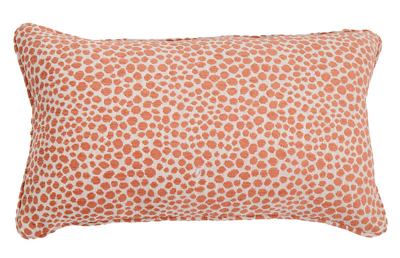 Kit 14x24 Lumbar Outdoor Pillow, Cheetah Rust