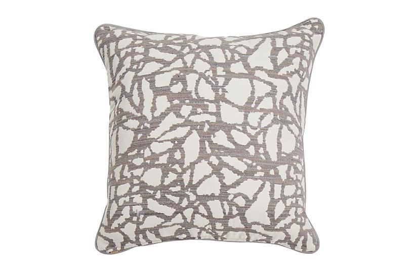 Siena Outdoor Pillow, Mod Pewter