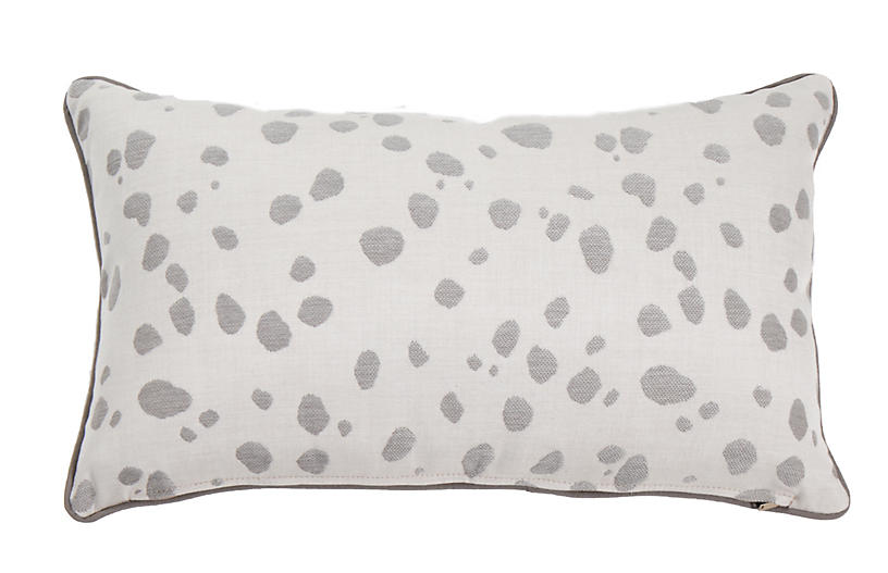 Siena 14x24 Lumbar Outdoor Pillow, Pewter Spot