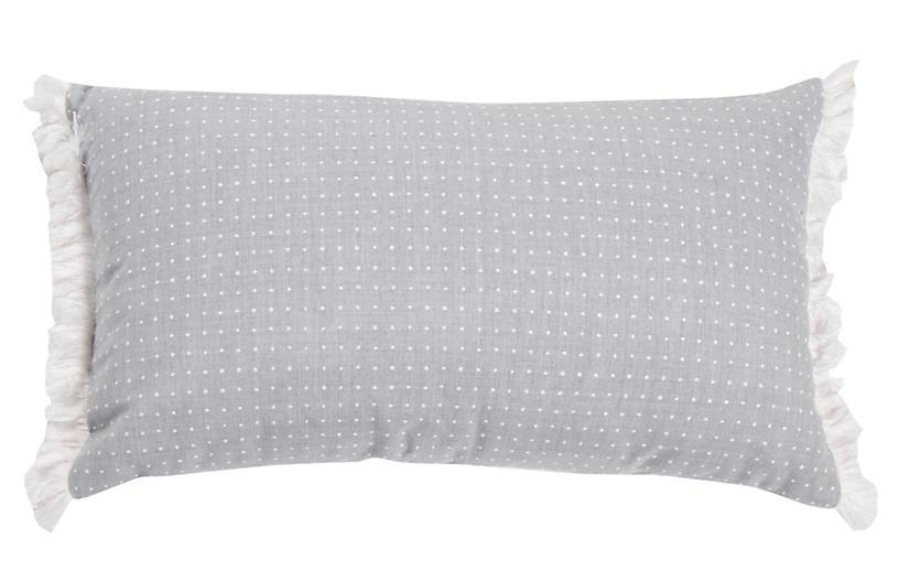 Frances 14x24 Lumbar Outdoor Pillow, Chambray