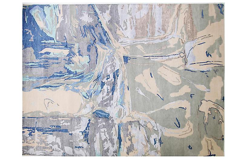 9'x12' Contigo Rug, Ivory/Blue