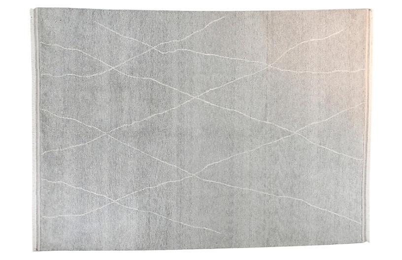 9'x12' Moroccan June Rug, Gray