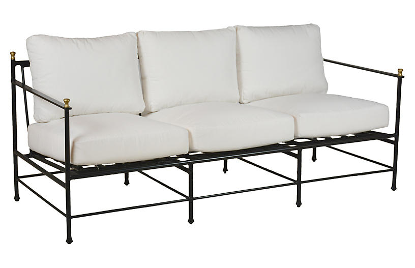 Frances Sofa Replacement Cushion, White