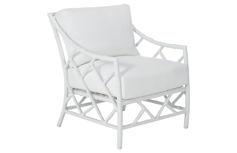 Kit Lounge Chair Replacement Cushion, White