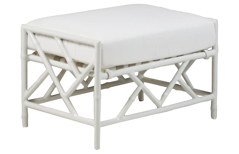 Kit Ottoman Replacement Cushion, White