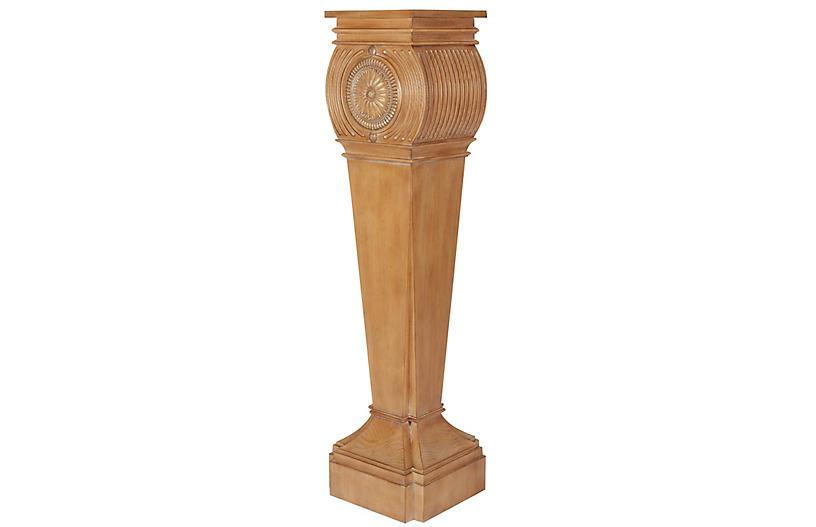 Gustave Pedestal, Washed Pine