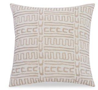 Ivory print pillow, OKL