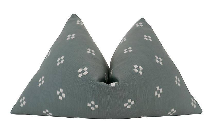 Catalina 25x16 Pillow, Jade/White
