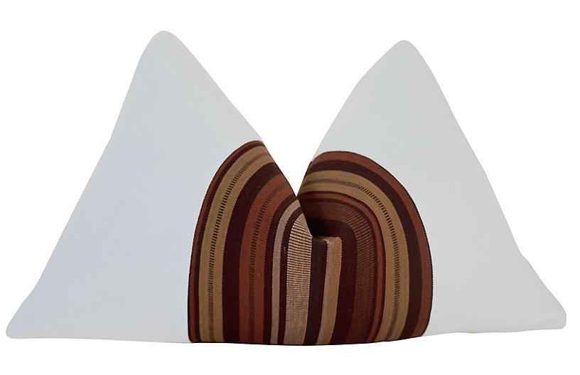 Naranjo 25x16 Pillow, White