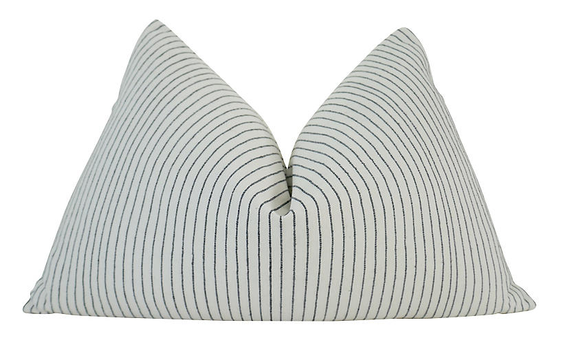 Cabo 25x16 Pillow, White/Black
