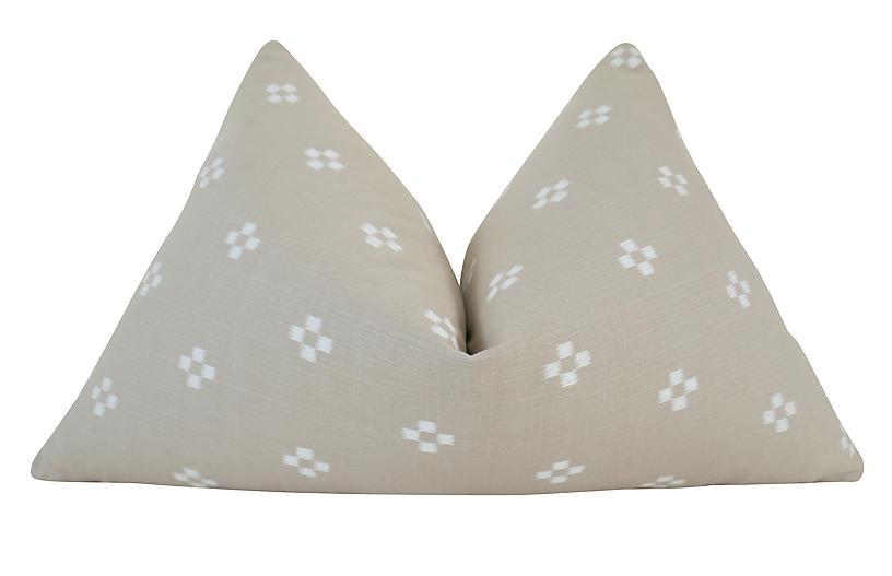 Seaside 25x16 Pillow, Sand/White