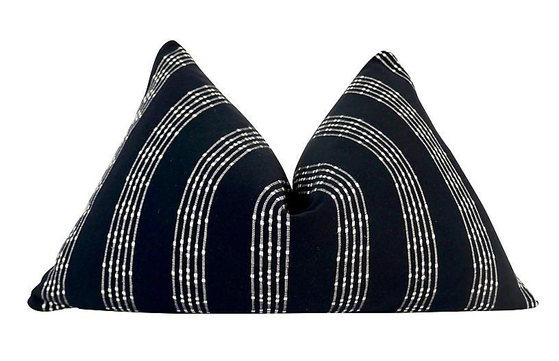 Brea 25x16 Pillow, Black/White