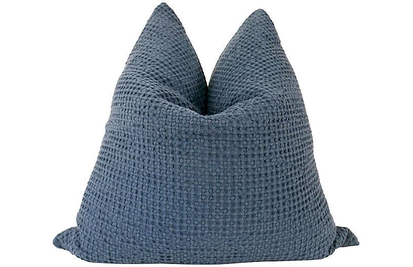 Pacific Grove 24x24 Pillow, Blue/White
