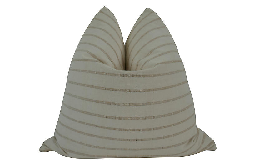 Solano 24x24 Pillow, Taupe/Sand