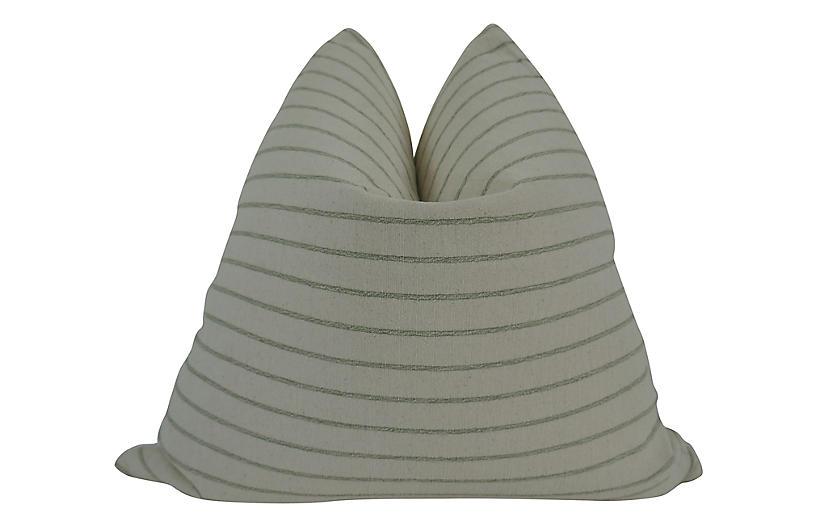 Napa 24x24 Pillow, Natural/Sage