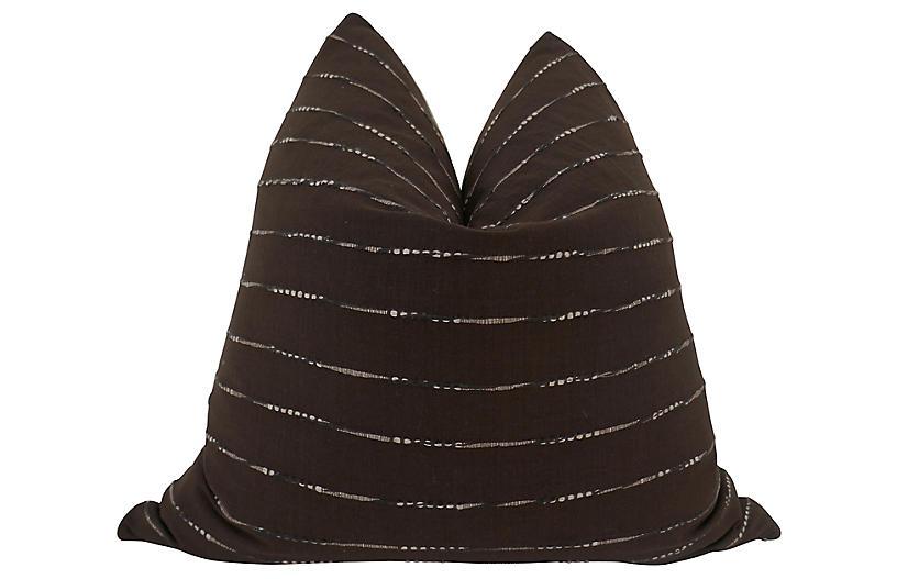 Ukiah 24x24 Pillow, Brown/White