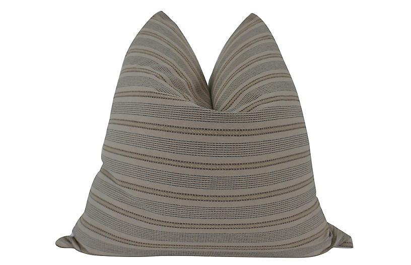 Artesia 24x24 Pillow, Tan/Black/White