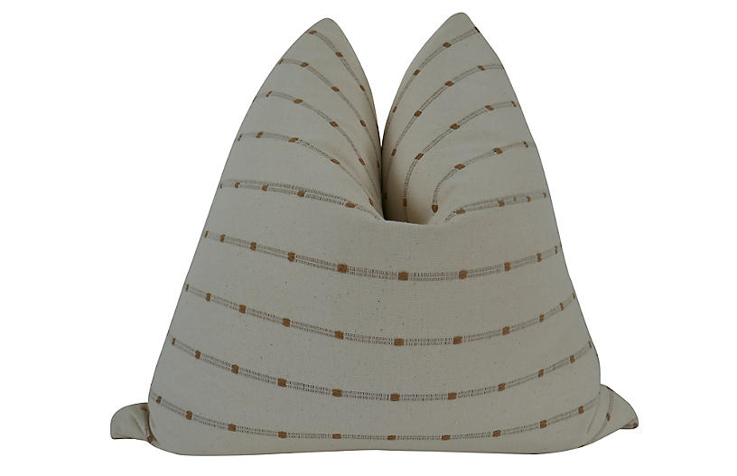 Hermosa 24x24 Pillow, Natural/Clay