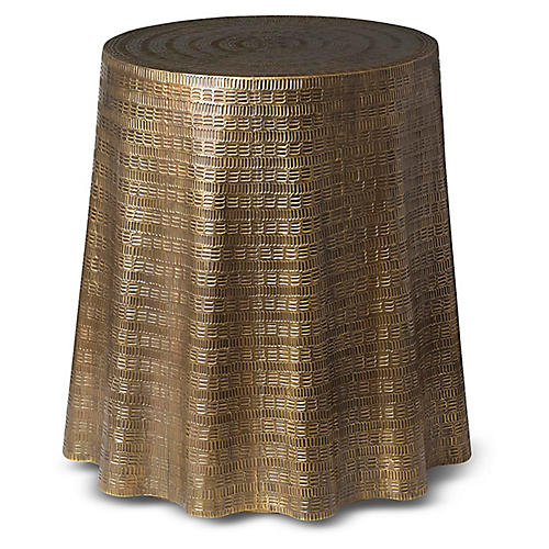 Bijou Side Table, Antiqued Brass