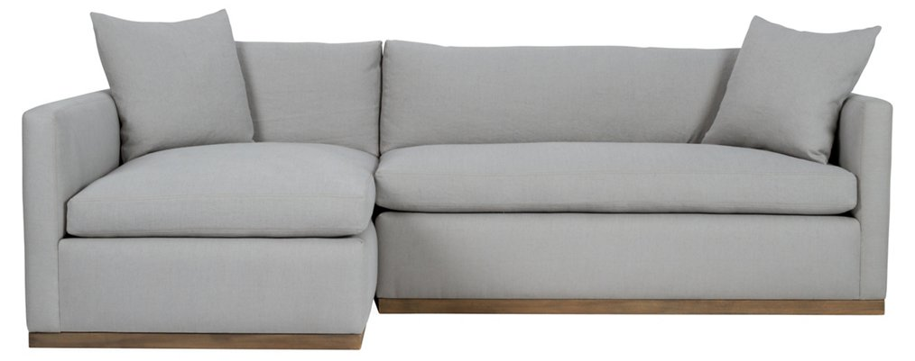 Francis Left Facing Sectional Light Gray Linen Brownstone Upholstery Brands One Kings Lane
