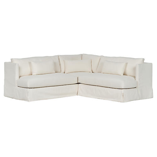 Bouch Sectional, Ivory Crypton