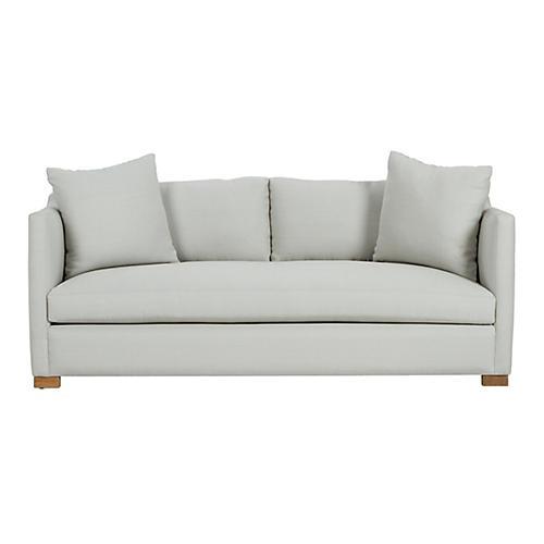 Corinne Small Sofa, Sea Glass Linen