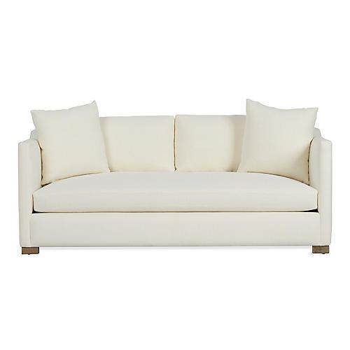 Corinne Small Sofa, Ivory Linen