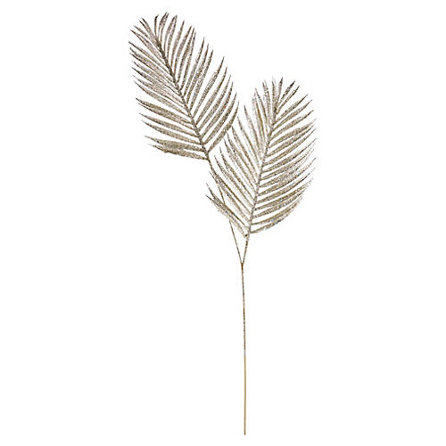 Palm Stem Ornamental Pick, Silver