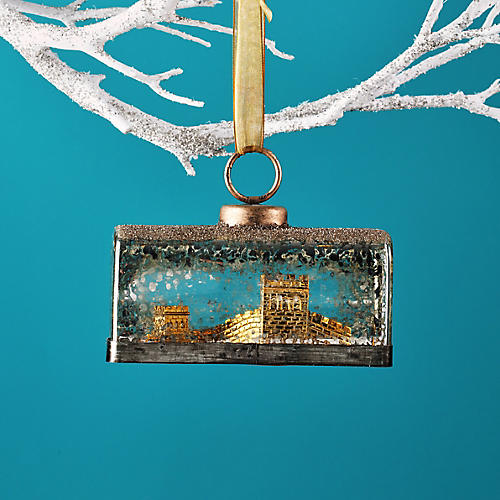 Great Wall Ornament, Gold/Clear