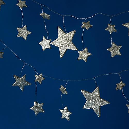 Shining Stars Garland, Silver