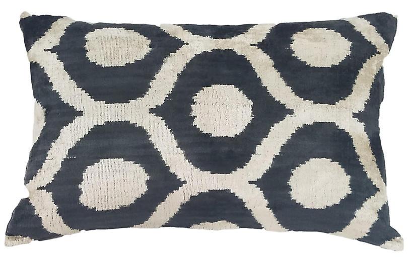 Elma 16x24 Lumbar Pillow, Black/Cream