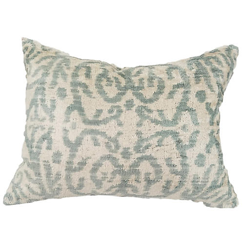 Rayla 16x24 Lumbar Pillow, Gray/Ivory